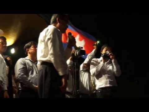 Khmernewstime - Opposition Leaders Speeches toward Thousands of Protesters on the 5th Day