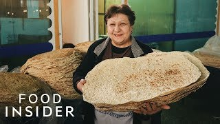 How Lavash Bread Is Made In Armenia
