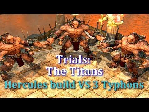 Titan Quest AE-Ragnarok Hercules VS 3 Typhon bosses in The Trials: The Titans |