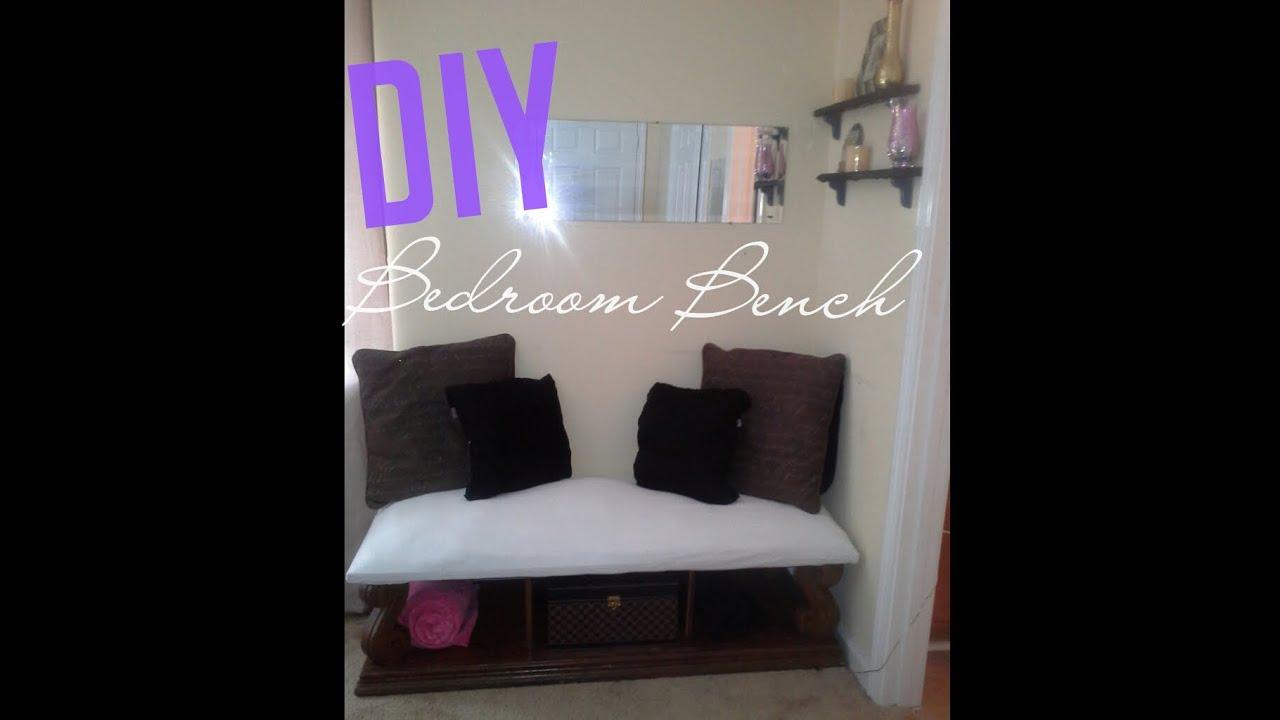 Diy Bedroom Bench Youtube