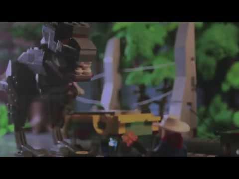Lego Jurassic Park T Rex Attack Youtube