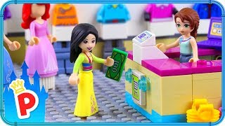 ♥ LEGO Mulan Stops the ROBBERY in the Shopping Mall
