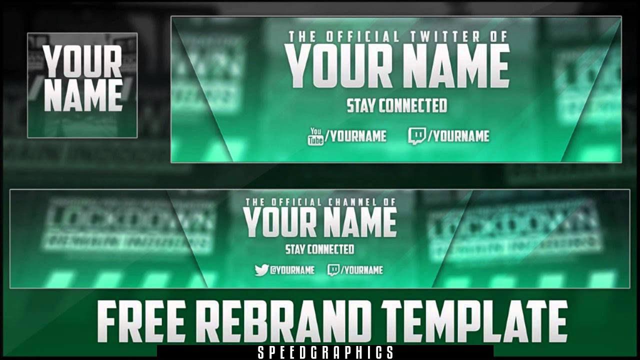 Free GFX:Gaming Rebrand Template V1 (Banner, Avatar, Twitter Header ...