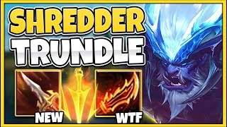 *NEW SKIN* 5.0 ATTACK SPEED TRUNDLE IS 100% RIDICULOUS (1V5 POWER) - League of Legends