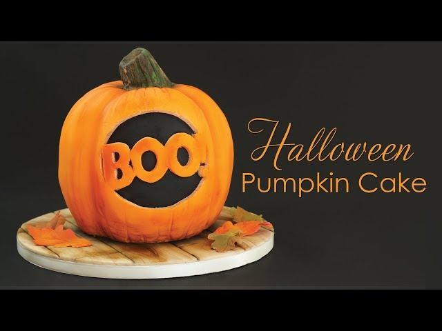 Halloween Pumpkin Cake Decorating Tutorial