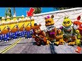 CAN THE ANIMATRONICS DEFEAT THE GIANT BULLY ARMY? (GTA 5 Mods FNAF Kids RedHatter)