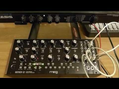Moog Mother 32 & Alesis Microverb 3