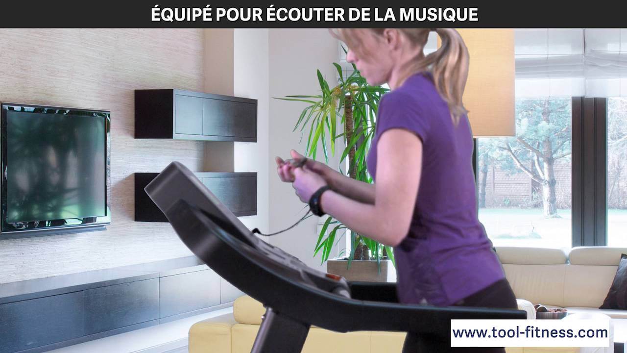 techness t1100 mp3 tapis de course tool fitness