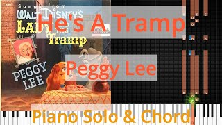 🎹Solo & Chord, He's A Tramp, Peggy Lee, Synthesia Piano