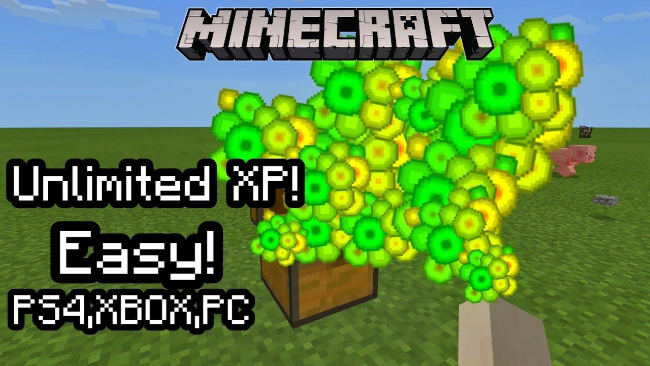 Minecraft Unlimited XP Glitch! (100 level in 10 second) PS10,XBOX,Windows100,PE