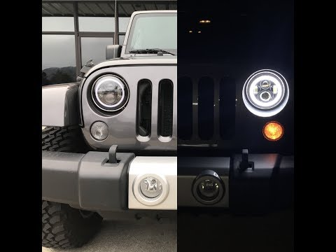 NO WIRE CUTTING?????? How To Install LED Halo Lights With DRL (Jeep JK)