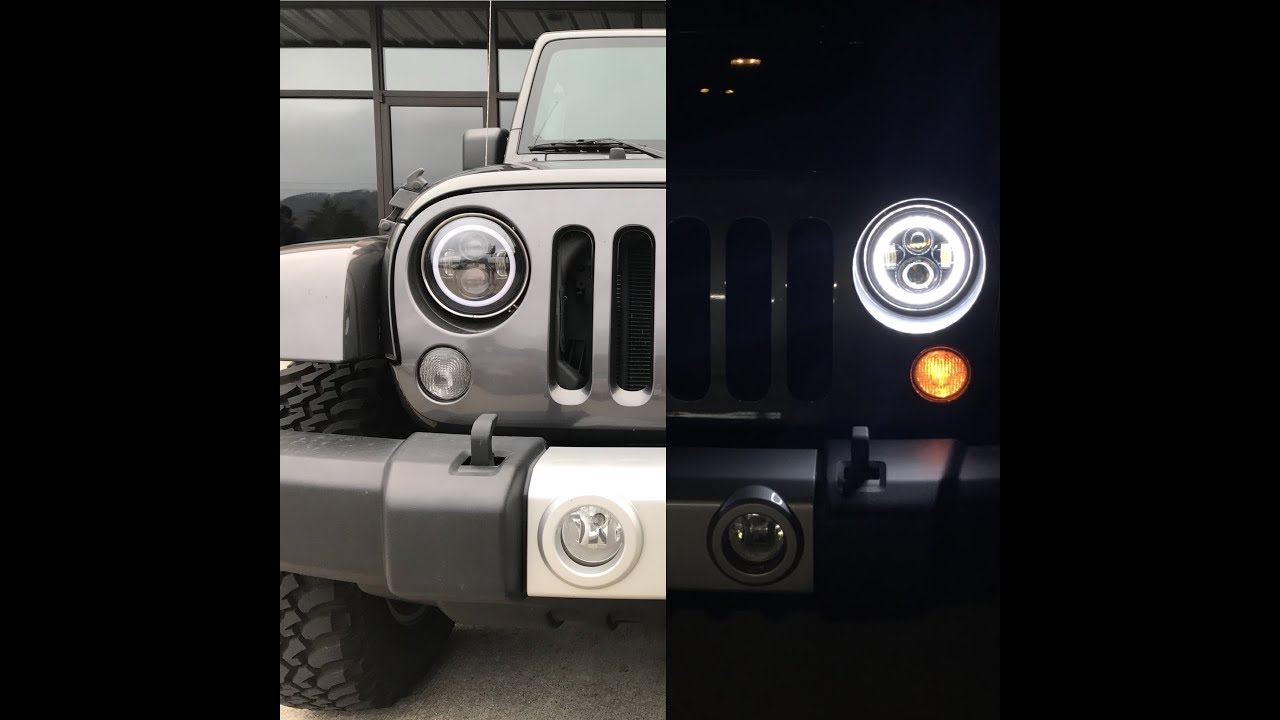 hight resolution of no wire cutting how to install led halo lights with drl jeep jk
