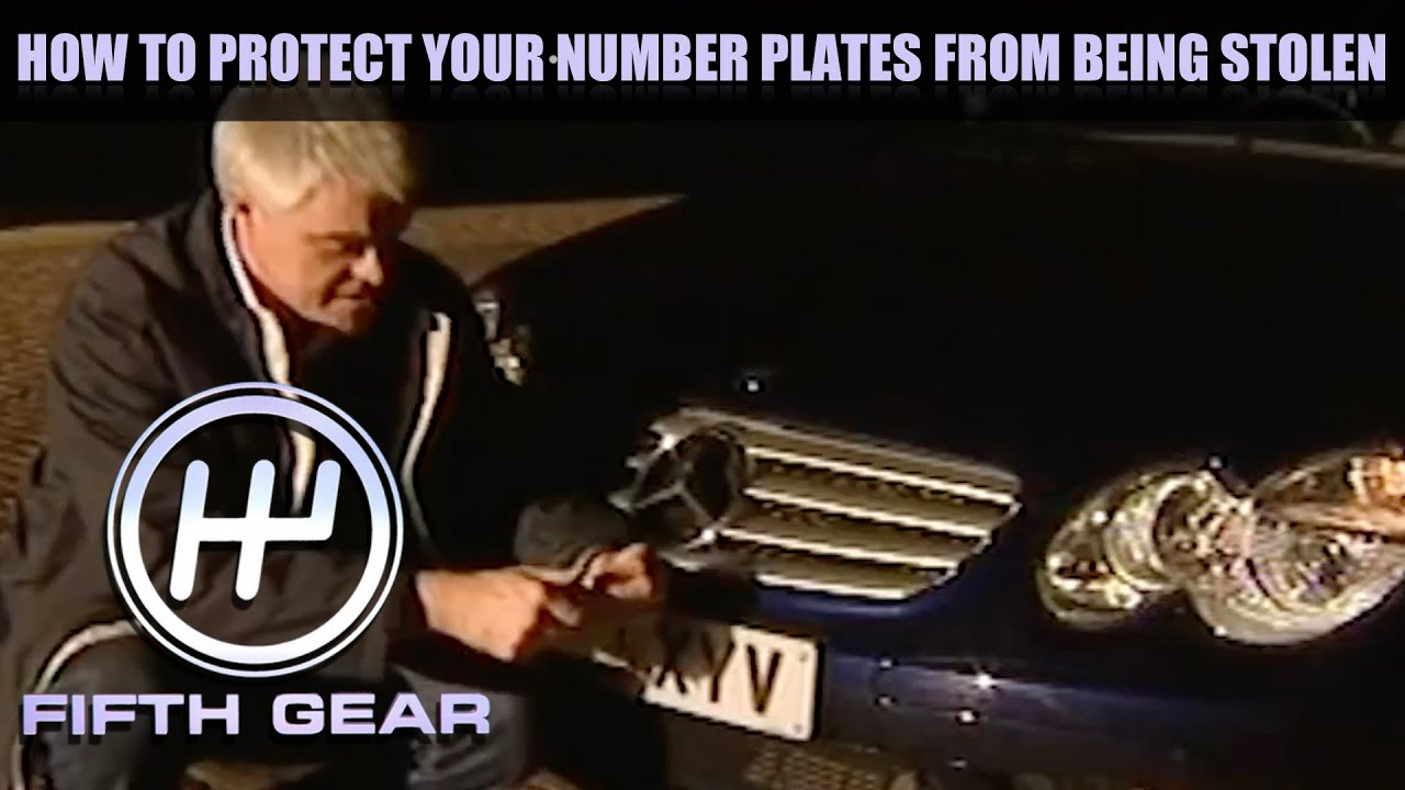 How to keep your number plates safe | Fifth Gear Classic