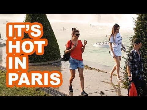 It's So Hot In Paris People Swim In The Trocadero Fountain!
