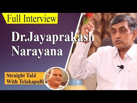 Lok Satta Party President  Dr.Jayaprakash Narayana Interview || Straight Talk with Telakapalli