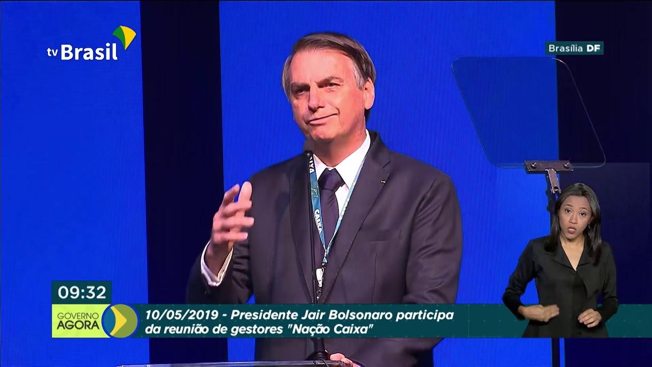 """Presidente Jair Bolsonaro discursa durante reunião de gestores """"Nação Caixa"""""""