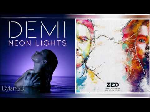 I Want You To Kneon | Demi Lovato & Zedd feat. Selena Gomez Mixed Mashup!