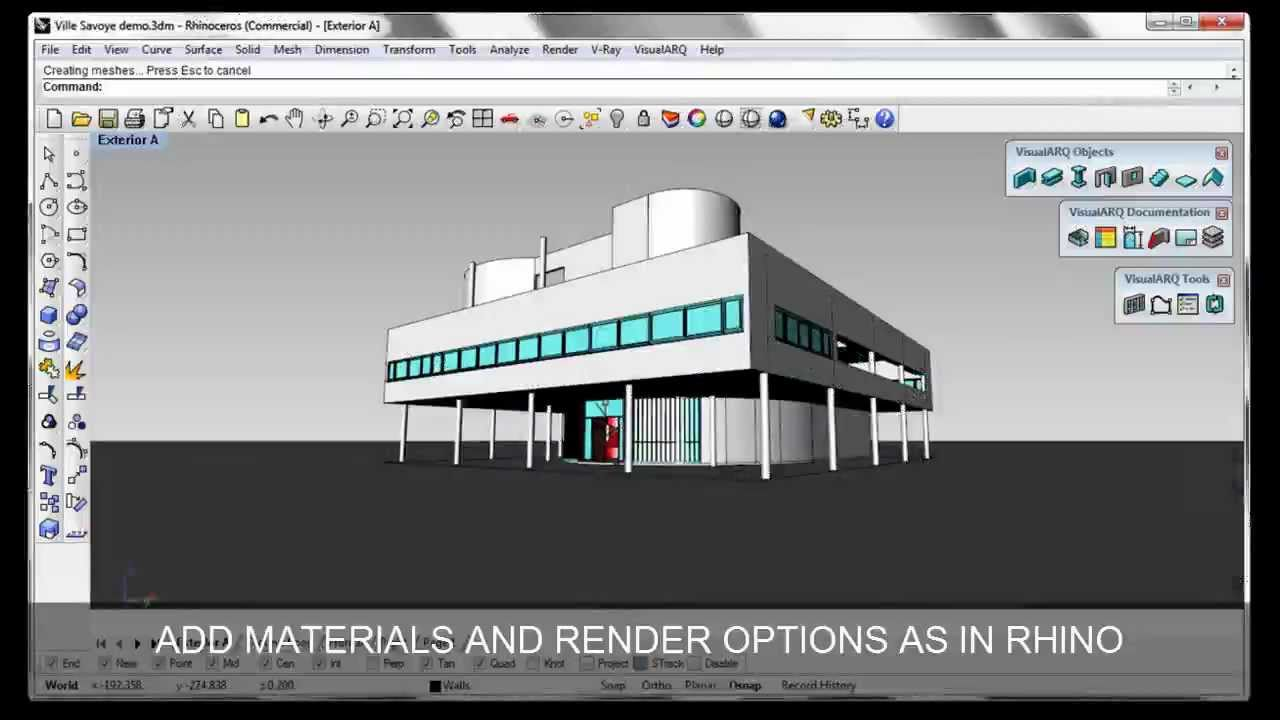 Visualarq 1 architecture tools for rhino overview youtube 3d architecture software