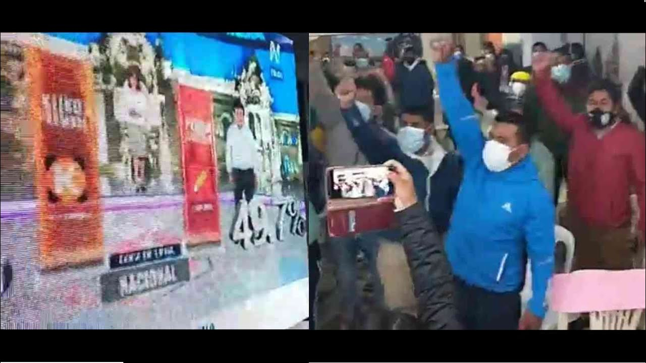 Así recibieron el Flash Electoral en Peru Libre. Gritaron fraude inmediatamente | Keiko o Castillo