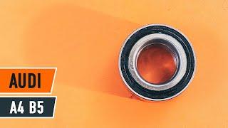 Kā nomainīt Riteņa rumbas gultnis AUDI A4 (8D2, B5) - tiešsaistes bezmaksas video