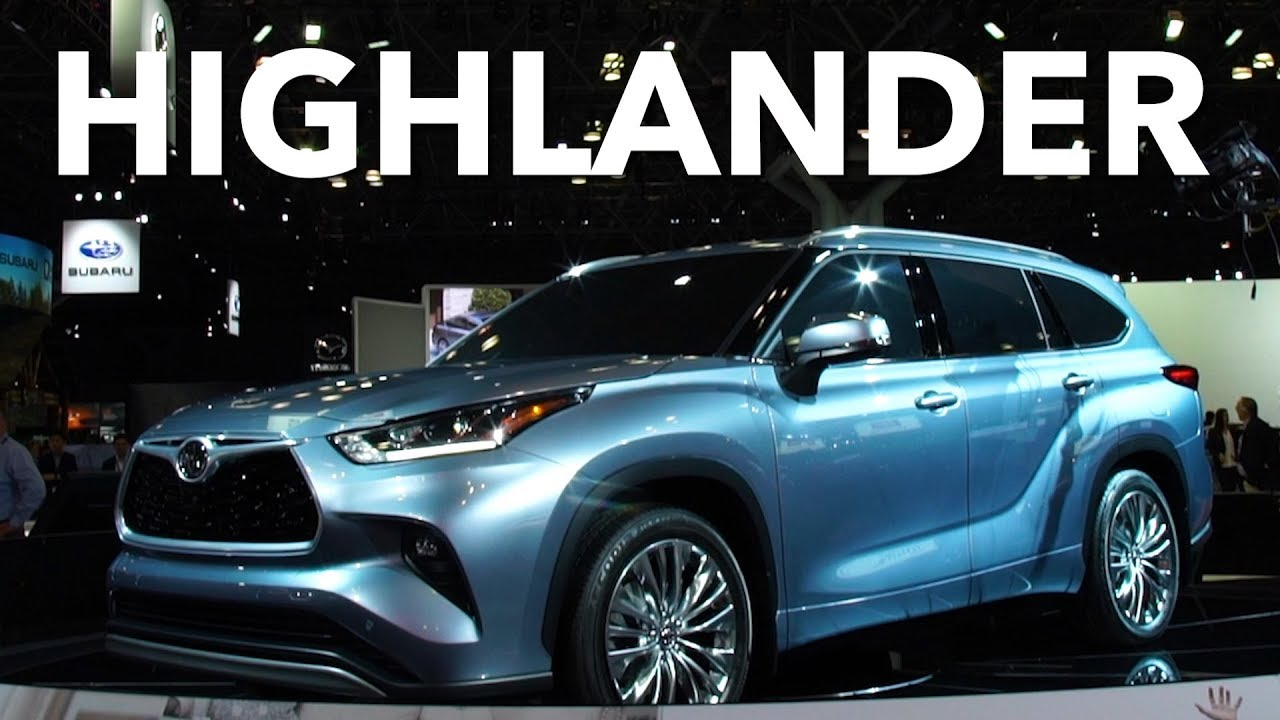 2019 New York Auto Show 2020 Toyota Highlander Consumer