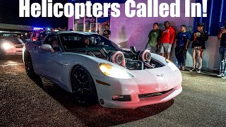 1000+ Horsepower Street Cars Get POLICE HELICOPTERS CALLED On Them! (Team Savage TX2K20 Pre Meet)