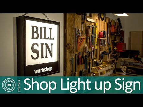 Make a Light Up Sign - How to build an LED display Sign