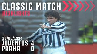Juventus 4 0 Parma Del Piero s First Career Hat Trick Classic Match Highlights