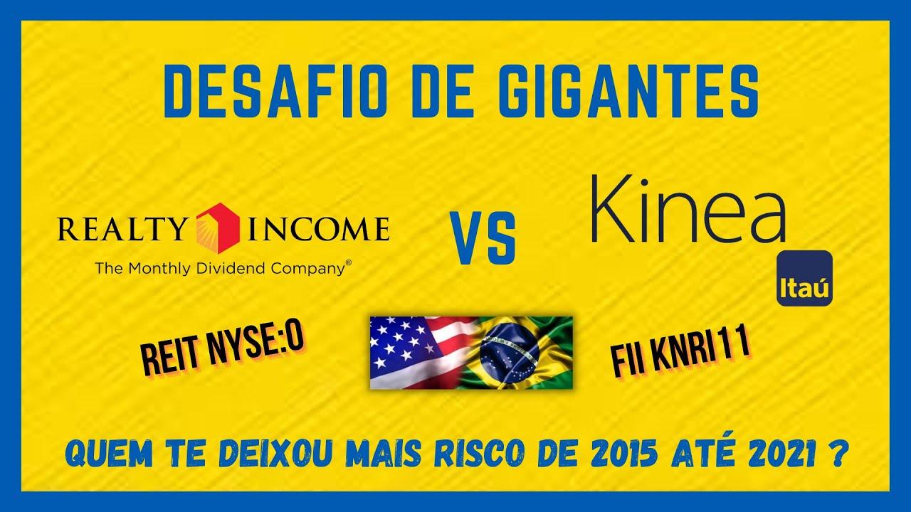 FII KNRI11 VS REIT REALTY INCOME - Qual pagadora dividendos mensais venceu e deixou vc mais rico ?