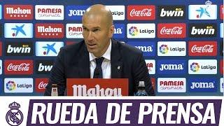 Zidane en rueda de prensa tras la remontada del domingo ante el Villarreal