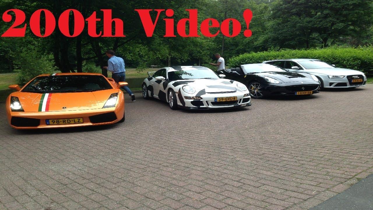 HD) Ferrari California vs. Lamborghini Gallardo vs. Porsche 997 GT3