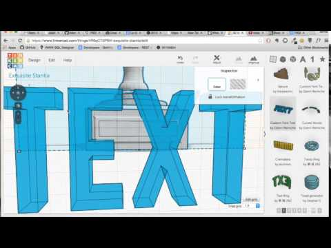 How to Add Custom Text to a 3D model using Tinkercad