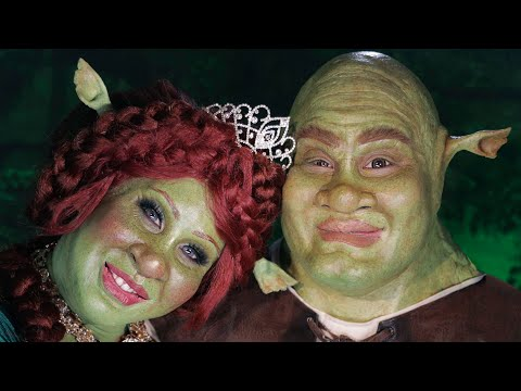 SHREK AND PRINCESS FIONA MAKEUP TRANSFORMATION | PatrickStarrr thumbnail