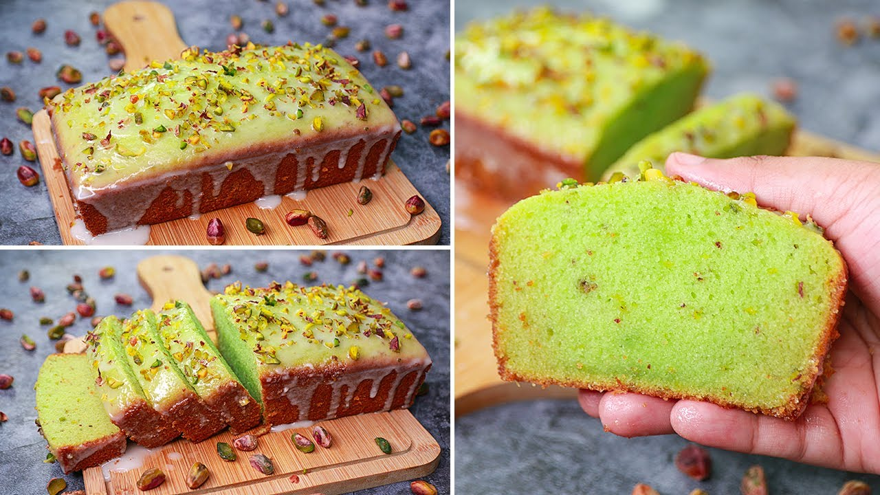 Pistachio Pound Cake | Eggless & Without Oven | Pistachio Tea Time Cake | Yummy