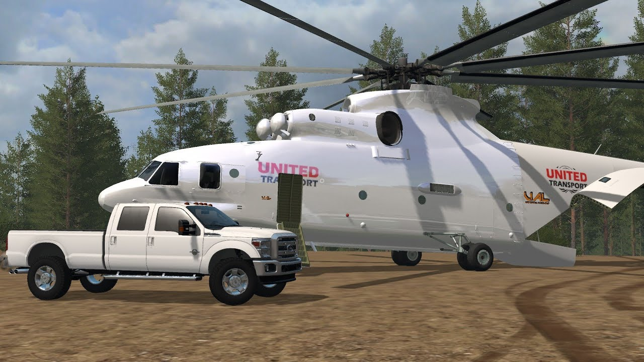 Farming simulator 17 Transport helicopter from lambo mods com