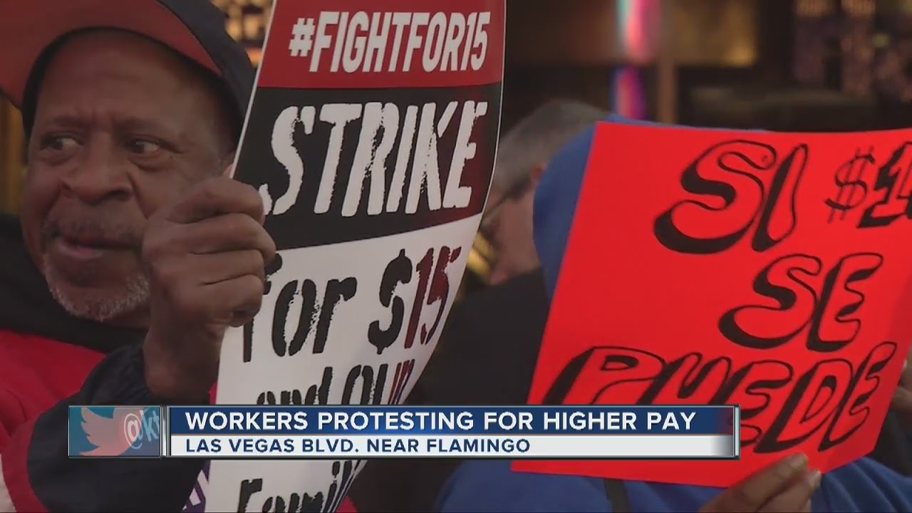 Las Vegas Workers Fight For A 15 Minimum Wage Youtube