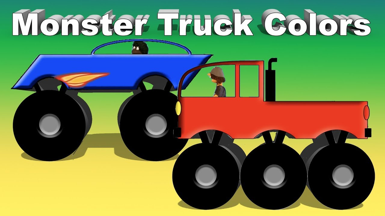 monster truck colors learn colors with trucks youtube