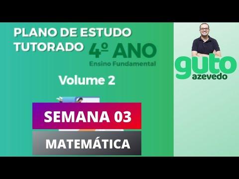PET Volume 2 | 4º ano Fundamental | Semana 3 | Matemática | Correção das atividades | Guto Azevedo