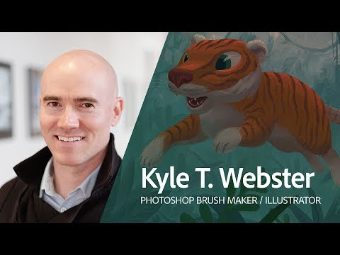 Live Digital Painting with Kyle T  Webster (KyleBrush) 2/3 - YouTube