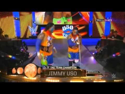 jimmy uso make his entrance without jey