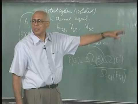 Mod-01 Lec-22 The microcanonical emsemble