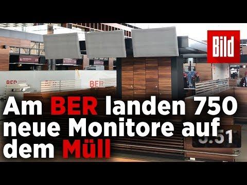 Jetzt reißen sie am BER  750 neue Monitore wieder raus