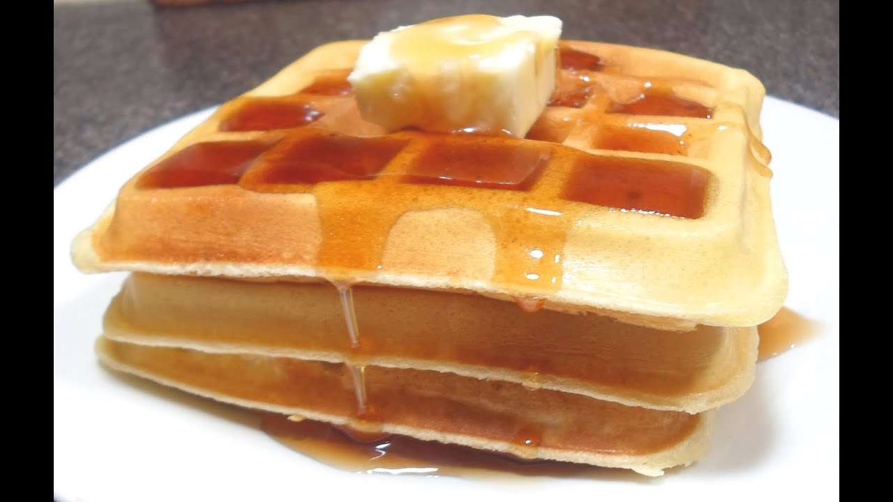 How To Make Waffles Easy Cooking Youtube