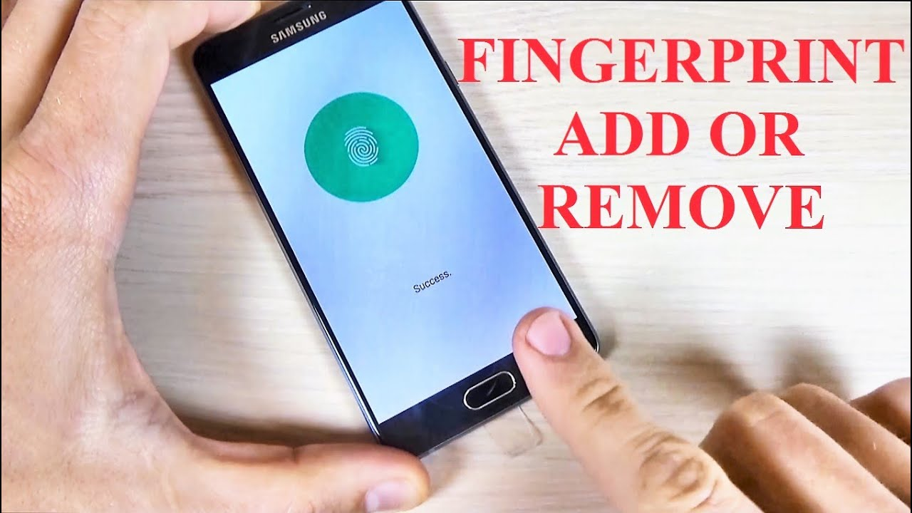 Samsung Galaxy A5 A7 2016 How To Add And Remove A Fingerprint Youtube