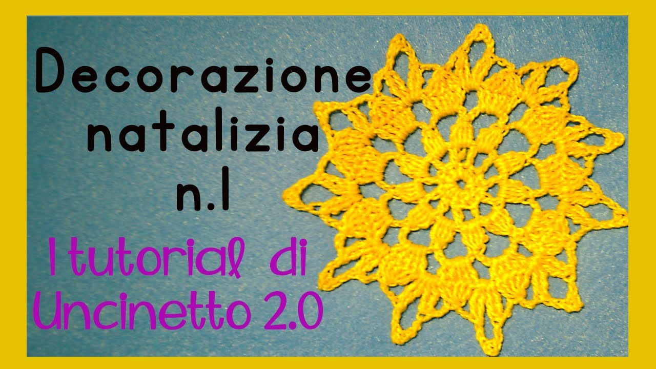 Tutorial Uncinetto Decorazione Natalizia N1