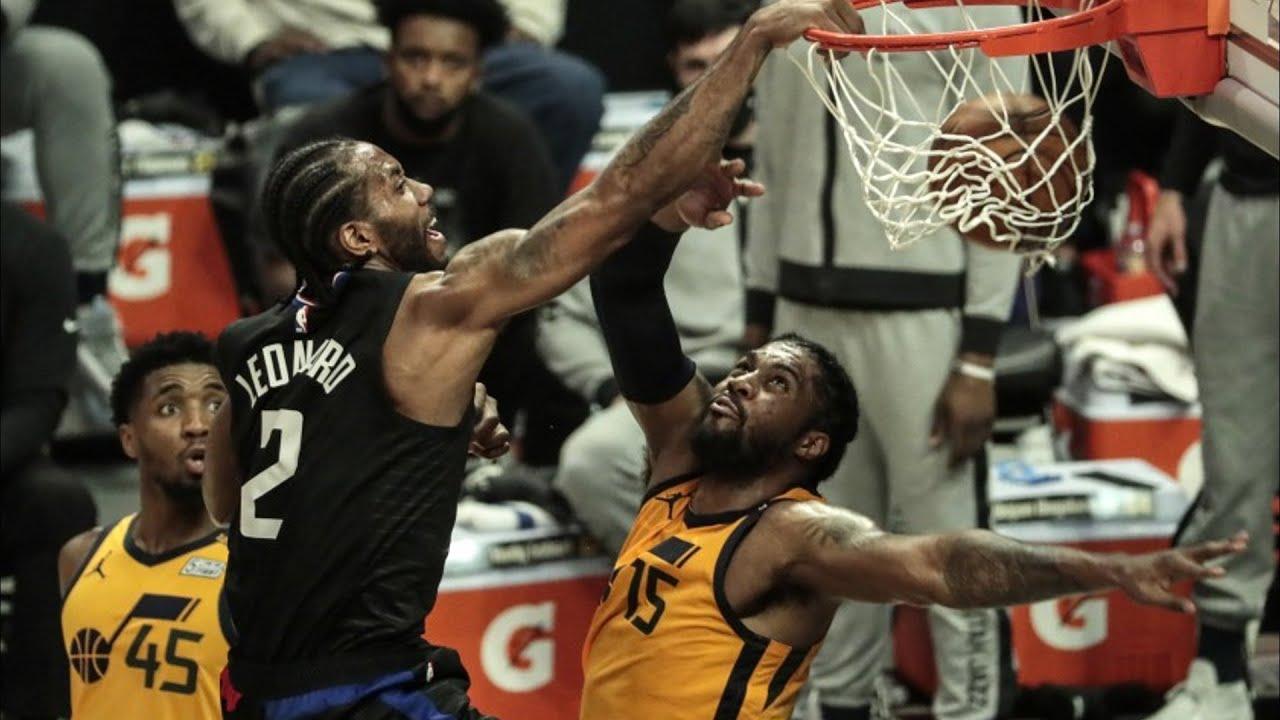 Kawhi Dunks on Favors! 31 Points Game 4 vs Jazz! 2021 NBA Playoffs