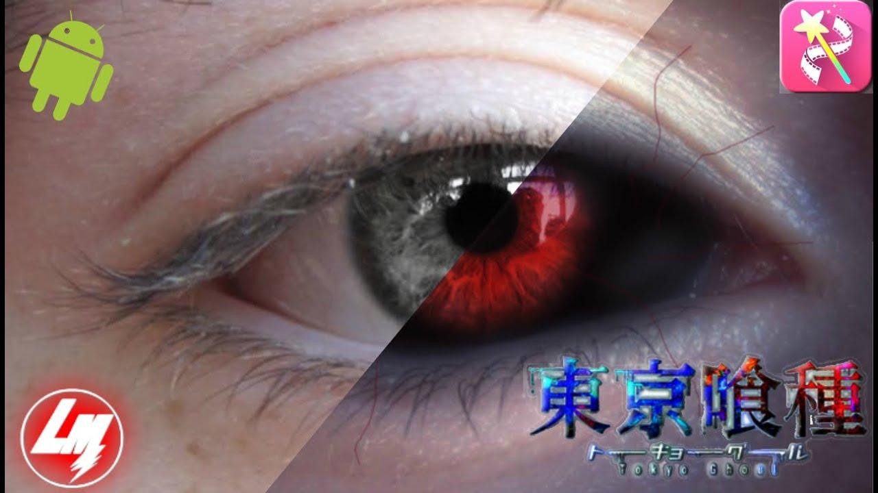 Como hacer ojos de ghoul desde android  EN VIDEO