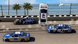 THROWN IN THE AIR! | Forza Motorsport 6 | NASCAR Expansion