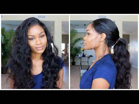 How To Get A Sleek Ponytail Using A 360 Lace Frontal Wig
