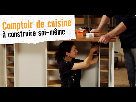 comptoir de cuisine hornbach meubles construire soi m me youtube. Black Bedroom Furniture Sets. Home Design Ideas